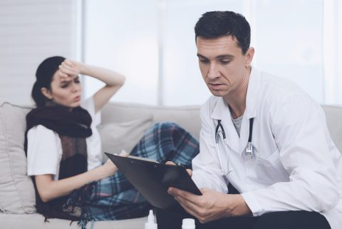 Gold Coast after hours doctor checking a patient at her home